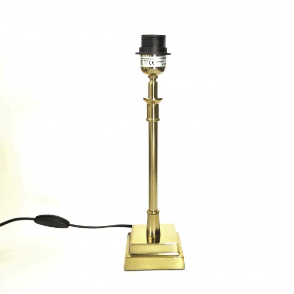 Lampe Lampenfuß Tisch Gold Metall Colmore 10 x 10 x 38 211-15-026-M-Gold E27